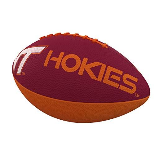 Logo Brands NCAA Virginia Tech Hokies Combo Logo Junior-Size Rubber Football, Team Color