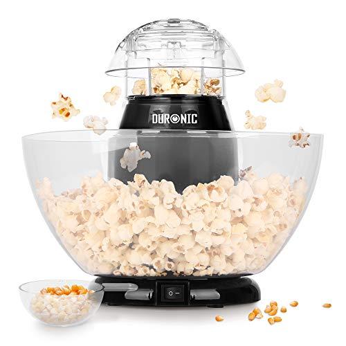 Duronic POP50 Popcornmaschine | Heißluft ohne Fett & Öl | 1200 Watt | inkl. Messbecher | für 50 Gramm Mais | abhnehmbare Schüssel | Ölfreies Popcorn | Kalorienarm