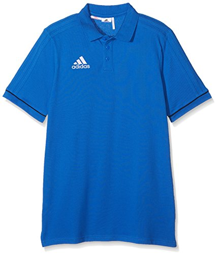 adidas Jungen Tiro 17 Cotton Poloshirt, Blue/Collegiate Navy/White, 152