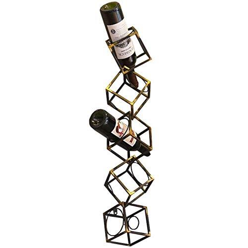 BFDMY Titular De La Botella De Metal para Los Organizadores De Almacenamiento De Vinos para Estantes De Pared Tenedor De La Botella del Vintage con Soporte para Estantes Flotantes Diseño Industrial
