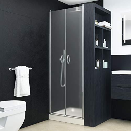vidaXL Duschtür Duschabtrennung Duschkabine Duschwand Nischentür Glastür Dusche Tür Matt ESG 5 mm Sicherheitsglas 80x185 cm Verstellbereich von 78-81 cm