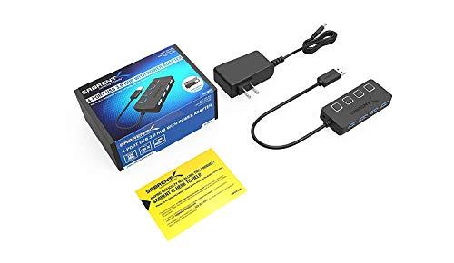 Sabrent USB HUB - 4-Port -USB 3.0 Hub mit einzelnen Power Schalter und LEDs (HB-UMP3)