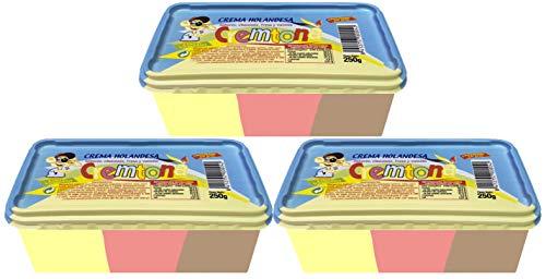 Crema Holandesa 3 colores Cremtona. Chocolate, Fresa y Vainilla. (Lote de 3 Tarrinas)