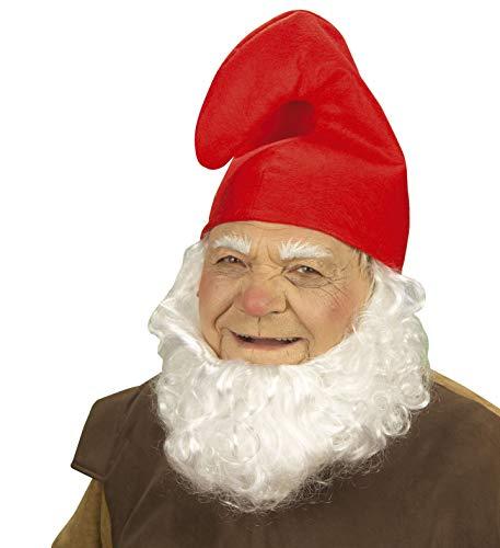 Zwergenmütze Schlumpfmütze Hut Mütze rot und weiß Zwerg Gnom Schlumpf Karneval Kostüm Fasching (1x rot)