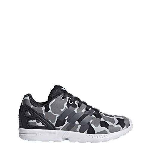adidas ZX Flux C, Scarpe da Fitness Unisex-Bambini, Grigio Carbon/Ftwbla 000, 29 EU