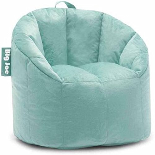 Big Joe Milano Bean Bag Chair | Filled with UltimaX Beans (Mint Plush)