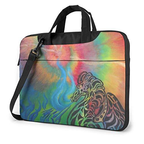 15.6″Durable Hombro Mensajero Bolsa maletín PC Tie Dye Rain-Bo-W Dragón Moda Impermeable Ordenador Portátil/portátil/Tablets