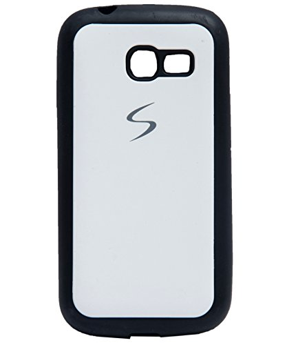 iCandy Black Boarder Leather Finish Soft Back Cover for Samsung Galaxy Star Pro S7260 / S7262 - White