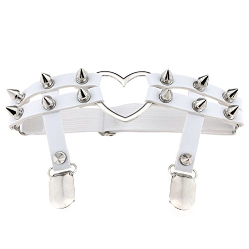 FORLADY Rock Anime Street Dance Show Elastic Leather Three Rows Of Thigh Ring Garter Three Rows Of Garter Pants