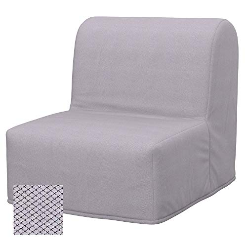 Soferia Ersatzbezug fur IKEA LYCKSELE Sessel, Stoff Nordic Light Grey, Grau