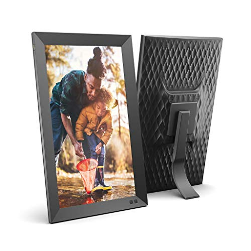 NIX 15 Inch USB Digital Photo Frame - Portrait or Landscape Stand, Full HD Resolution, Auto-Rotate, Magnetic Remote Control - Mix Photos and Videos in The Same Slideshow