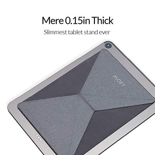 MOFT Kompatibel mit 2D Notebook Ständer Laptop Ständer Demontierbar mit Belüftung Tragbarer Faltbar und Höhenverstellbar Laptops MacBook Pro/Air HP Dell Lenovo Samsung Acer Huawei MateBook - Grau
