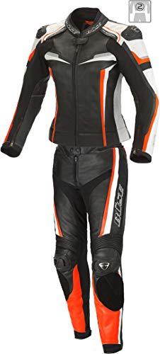 Büse Mille 2-Teiler Damen Motorrad Lederkombi Schwarz/Orange 38