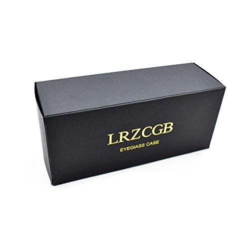 LRZCGB Portable Zipper Eyeglasses Case, Honeycomb Glasses Sunglasses Case Box Protector for Men & Women or Children (Black)