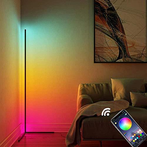 HAITOY Lámparas De Pie Atenuación Colores, RGB 20 W Lámpara De Pie LED De Esquina, Modernas Lámpara De Pie, Estilo Nórdico Lámparas De Pie Control Remoto RGB,Remote Control