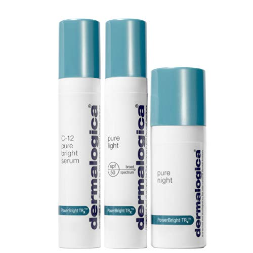 Dermalogica Powerbright TRX Treatment Kit - Set Contains: Face Serum, Sunscreen and Lotion - Brightens Uneven Skin Tone By Minimizing Brown Spots and Discoloration