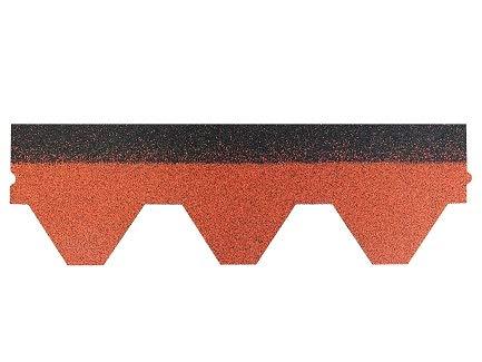 Isolbau Tejas hexagonales, forma triangular, 1 unidad, color rojo ladrillo, fieltro para tejas, tejas de betún, jardín, casa de pájaros, conejera, cubierta de columna de hormigón, caseta para perros