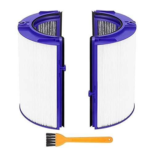 jiasHome DINGSONGYANG HEPA Filtrar la Pieza de Repuesto Ajuste para Dyson TP06 HP06 PH01 PH02 Purificador de Aire Verdadero HEPA Conjunto de filtros Compare con la Parte 970341-01 (Color : White)