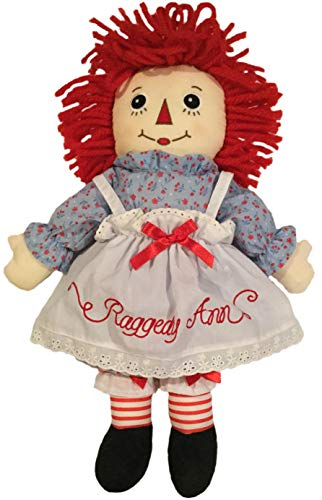 """Deluxe 16"""" Raggedy Ann Doll with Embroidered Eyes and Removable Clothes"""
