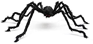 Trisea Squishies Giant Spider for Halloween Decoration, 5FT 1.5M 59INCH Large Hairy Fake Spider Props, Scary Halloween Spi...