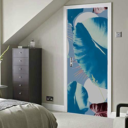 Plantación de primavera natural Árbol creativo Vinilo autoadhesivo Papel tapiz de decoración extraíble Papel tapiz mural de puerta 30x79 pulgadas (77x200 cm) 2 piezas
