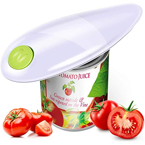 Can Opener, One Touch Can Opener, Can Openers for Arthritic Hands, Electric Can Opener, Can Openers That Work, Smooth Edge Automatic Electric Can Opener, Safe & Easy, Chef's Best Choice(White)