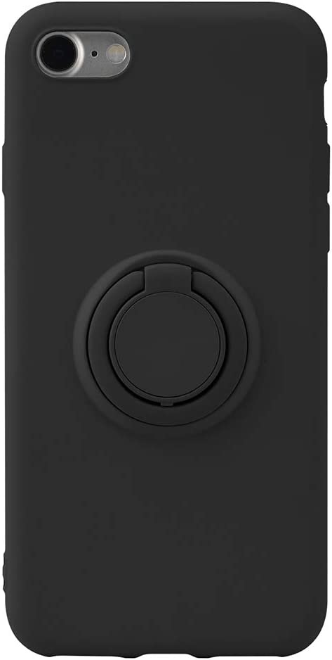 iPhone SE 2nd Generation 2020, iPhone 8, iPhone 7 Silicone Multicolor Case with Rotating Ring Holder, Kickstand and Metal Stand for Magnetic Car Mount