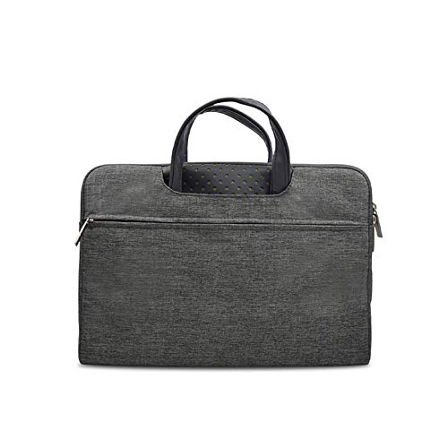 KLFD Lightweight Wear-Resistant Briefcase Bag Compatible with 12-15.6 Inch Home Office Water Resistant Laptop Bag Messenger Bag with Shoulder Strap & Multiple Compartments,Gray,13 inches