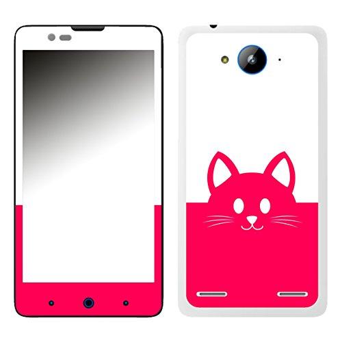 Disagu SF-106526_1018 Design Folie für ZTE Blade L3 Plus - Motiv Kawaii Katzengesicht pink