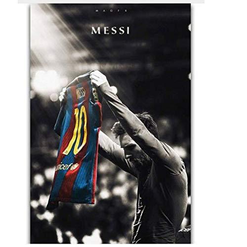 zxianc Football Super Player Art Decoración de Pared Impresión de Seda Poster Print sobre Lienzo 50x75cm sin Marco