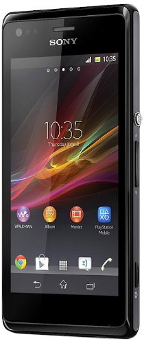 Sony Xperia M Dual-Sim Smartphone (10,2 cm (4 Zoll) Touchscreen, Qualcomm, 1GHz Dual-Core, 5 Megapixel Kamera, 1GB RAM, Android 4.2) schwarz