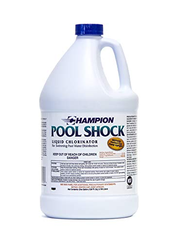 Liquid Chlorine Pool Shock - Commercial Grade 12.5% Concentrated Strength - 1 Gallon