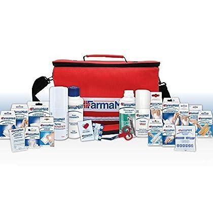 FARMAMED Botiquín de Primeros Auxilios de 250 Piezas, Bolsa médica deportiva, Kit de Primeros Auxilios Profesional para…