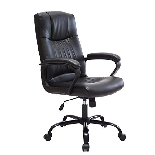 PLEASUR Chairs Sofas Living room chair Office black chair Study room rotating computer chair Staff chair lift Dormitory student chair Home armchair (Color : Black, Size : 66cm*66cm*111cm)