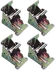 Sonline 4-delig inklapbaar frame zelfremmend inklapbaar tafelstoelpoothouders scharnieren voor been, scharnierhouder voor de woonbeleving