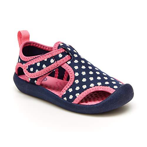 OshKosh B'Gosh Girls Aquatic Water Shoe Sport Sandal, Navy/Print, 8 Toddler