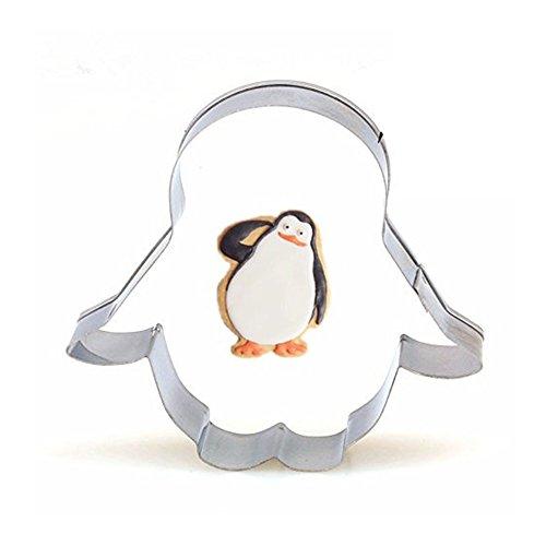 CAOLATOR. Edelstahl Ausstechform Backen Kuchenform Plätzchenausstecher Pinguin Schokoladenform Fondant Kinder Muffinform DIY Backen Plätzchen Schimmel-4 Stück