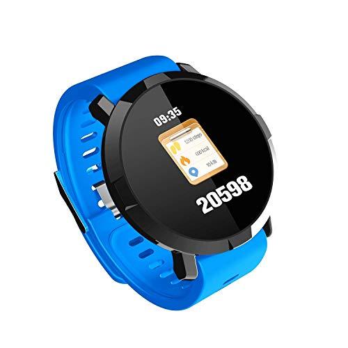 Zfeng Pulsera inteligente de frecuencia cardíaca para hombre y mujer, reloj inteligente deportivo multifunción M29, color azul