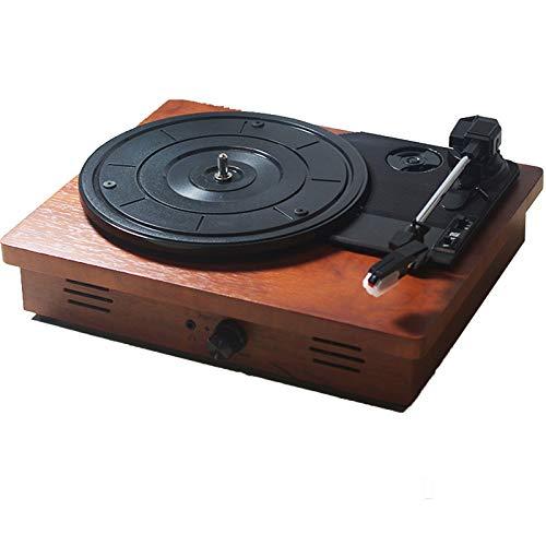 Vintage 3-Speed Bluetooth Fonografo Giradischi Portatile Giradischi Vinili con Altoparlanti Stereo, Grammofono Audio Audio Adatto for Soggiorno, Camera, ECC (Color : B)