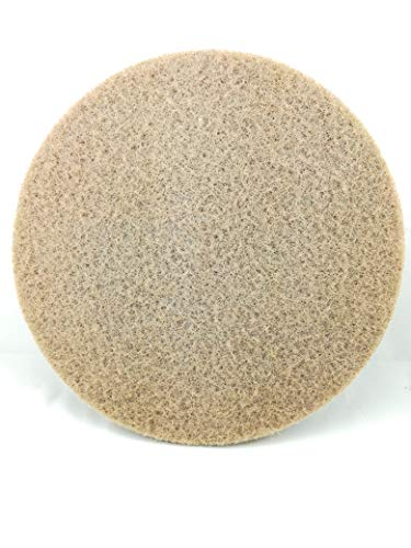 Superpad Maschinenpad 406 mm - 16 Zoll beige (5 Stück) Polierpad Reinigungspad Polierscheibe Boden Pad Parkett Holz weich