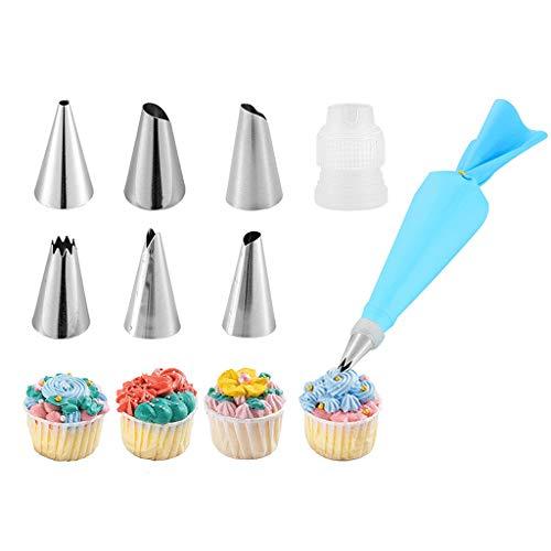 Kit de Buse de Tuyauterie, 6 Sacs à Douille Russes, Buses D'équipement de Décoration de Cupcake, Outils de Pâtisserie et Autre Kit de Décoration de Gâteau pour Débutant