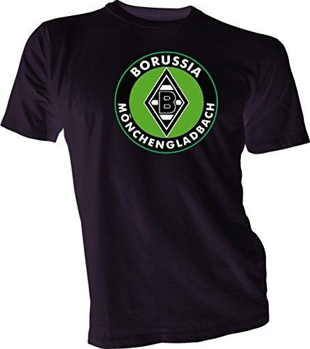 Borussia Mönchengladbach GERMANY Bundesliga Football Soccer Black T-SHIRT Medium