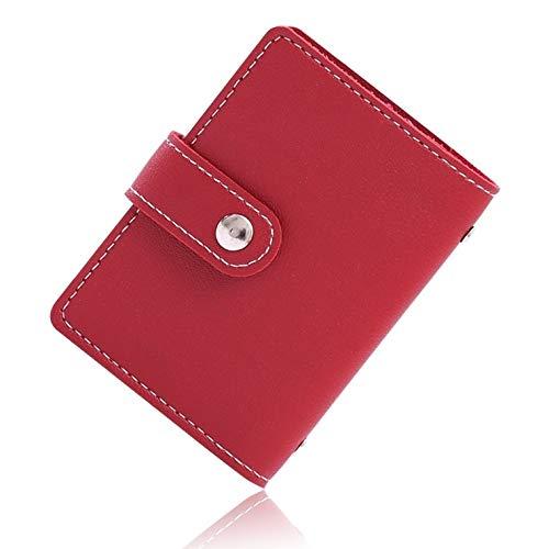 VOLAN スキミング 防止 カード ケース RFID ブロック 24枚 収納 クレジット カード入れ ホルダー メンズ レディース CARD CASE 6カラー (レッド)