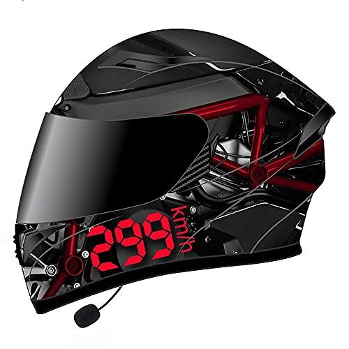 BDTOT Bluetooth Casco Moto Modular Dot/ECE Homologado Doble Visera Casco Moto Abatible,Unisexo Carcasa de ABS para Motocicleta Bicicleta Scooter Cascos de Moto Modulares