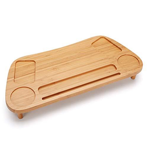 Ni. Bambú De Madera De Bambú De Pantalla Elevador De La Ordenador De Bambú De La Caja De Almacenamiento De Escritorio Multifuncional Del Gestor De Escritorio,