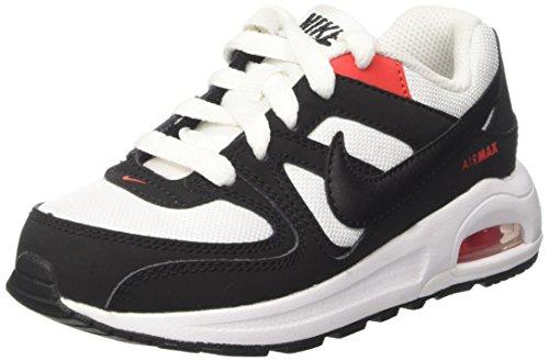 Nike Air Command Flex PS, Scarpe da Ginnastica Bambino, Bianco (White/Black/Max Orange), 33.5 EU