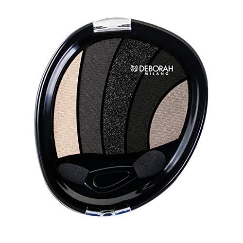 Deborah Perfect Smokey Eye Palette N.03 Black Smokey, 5 Tonalità di Ombretto Coordinate per uno Smokey Eye perfetto, texture morbida e dal rilascio colore intenso
