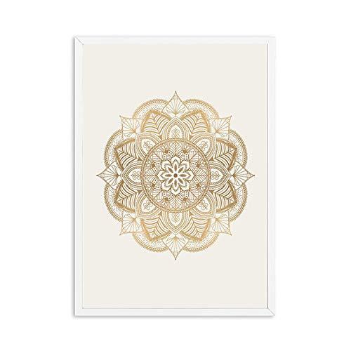 Zen Yoga Mandala Leinwand Poster Boho Wandkunst Gemälde Bilder Moderne Wohnzimmer Dekoration 50x70cm
