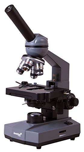 Levenhuk 320 Base Biological Monocular Microscope with Halogen Lighting and 40–1000x Magnification
