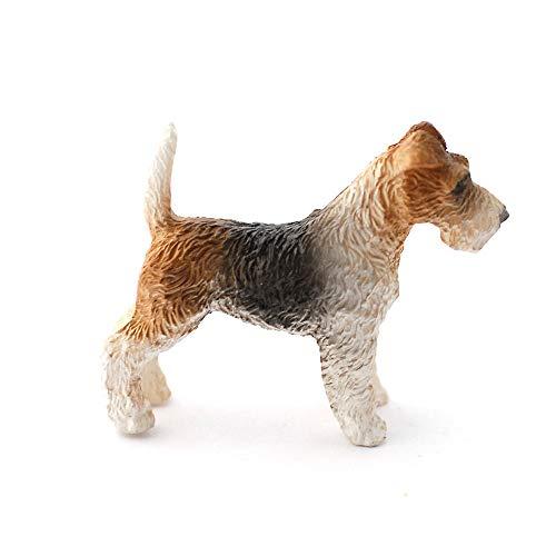 Melody Jane Dolls Houses Casa delle Bambole Fox Terrier in Piedi Cani Animali Miniatura 1:12 Scala Accessorio